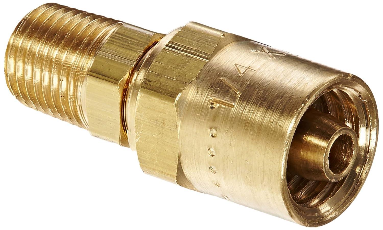 BN252RU56 Brass Reusable Male Fitting Dixon 5//16 Hose ID x 9//16 OD x 1//4 NPTF