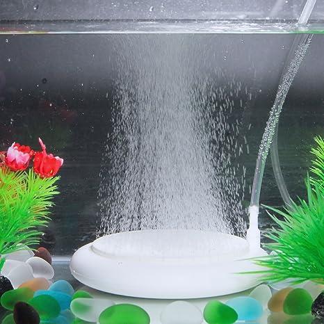 SENZEAL Aire Piedras Acuario difusor de Aire Burbuja de Piedra Redondo Placa de oxígeno para el