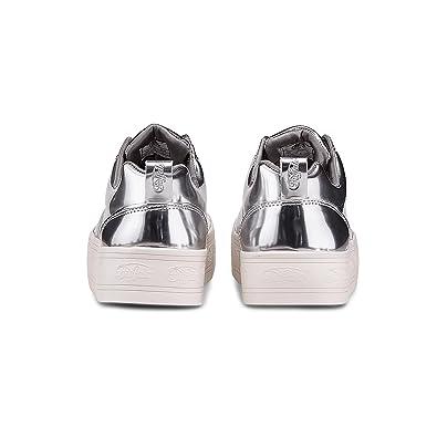 quality design 08485 62a88 Buffalo Damen Sneaker SN Manchester Silber: Amazon.de ...