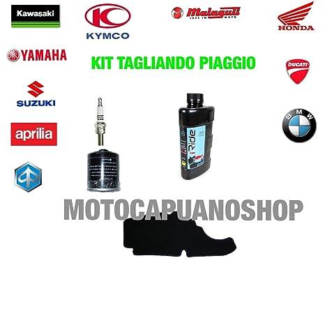 Kit Tagliando aceite Agip Eni 5 W40 i-Ride Piaggio Liberty ...