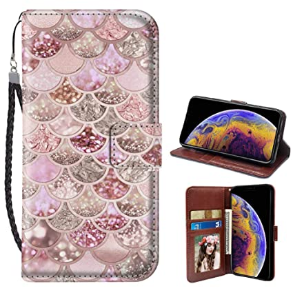 big sale 805cf a541c Amazon.com: JQLOVE Apple iPhone Xs Max Wallet Phone Case, Glitter ...