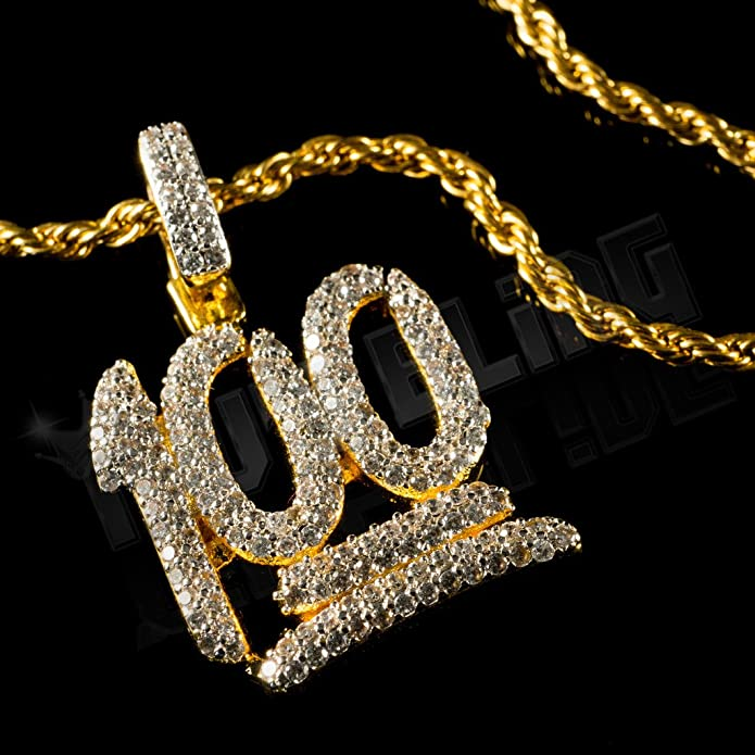 5dd9db57f6c50 Amazon.com: Niv's Bling 18k Gold Iced Out 100 Emoji Inspired by The ...