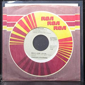 """Back Home Again / It's Up To You 7"""" 45 - RCA Victor - PB-10065"""
