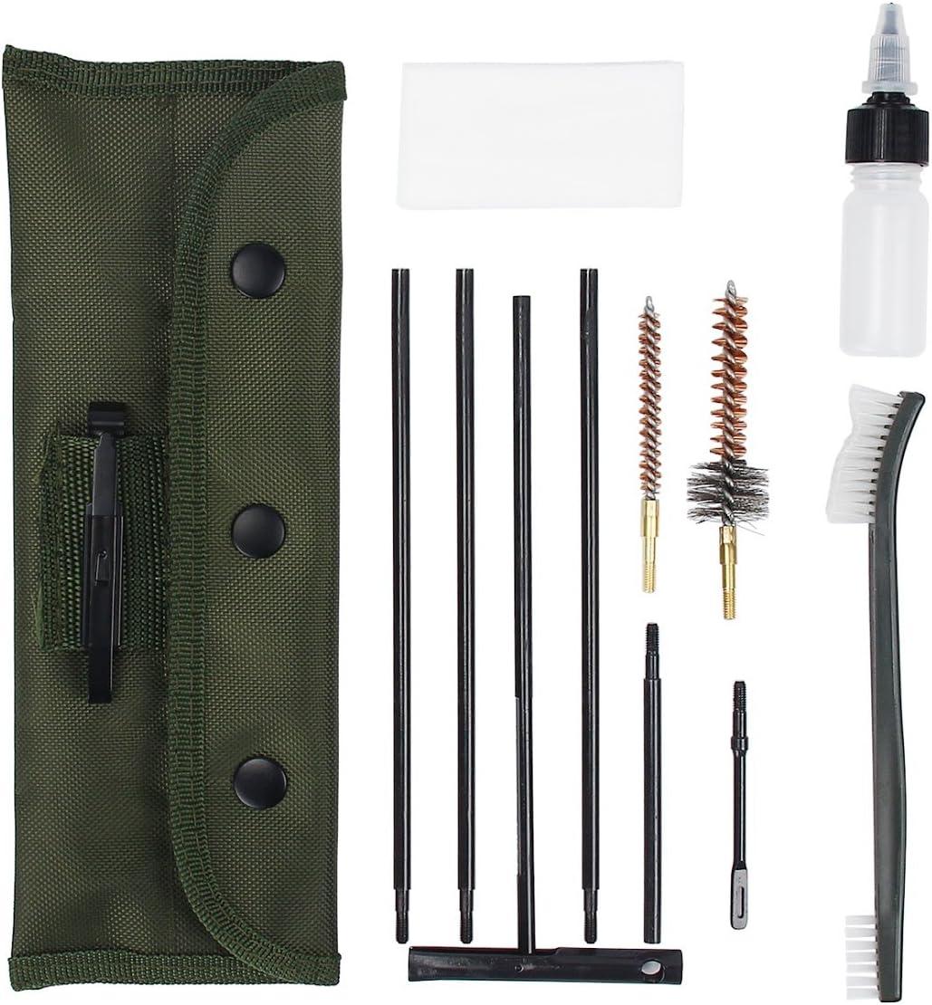 Donnagelia portátil Rifle Kit de Limpieza para 5,56mm .223.22Cal con Bolsa para la Caza Tiro