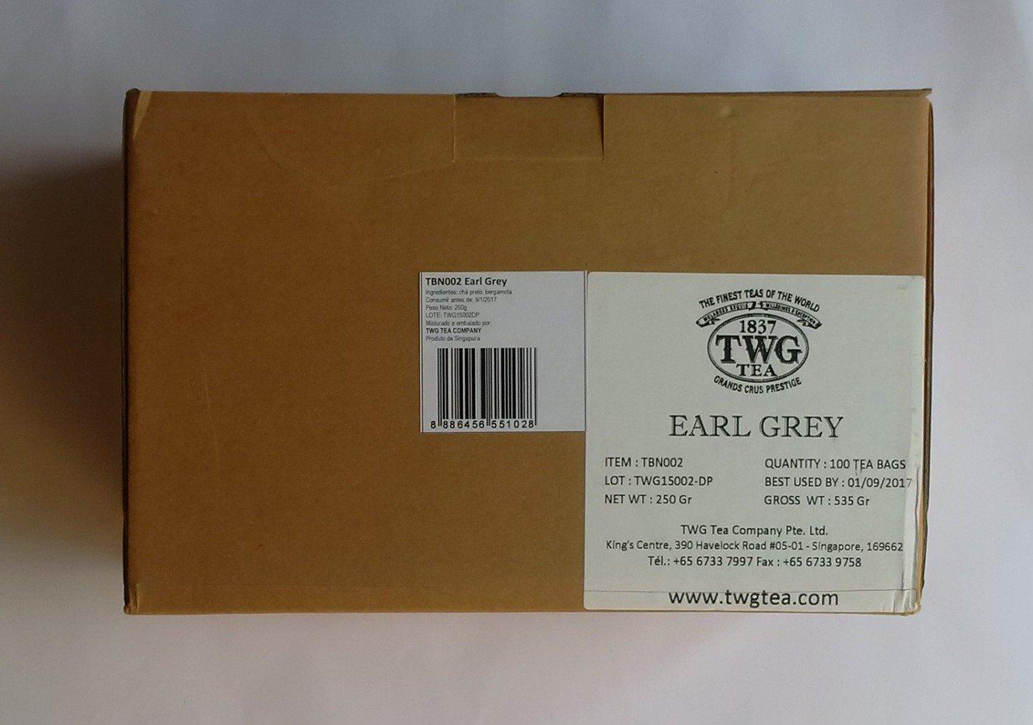 TWG Singapore - Luxury Teas - EARL GREY - BULK PACK - 100 silk teabags