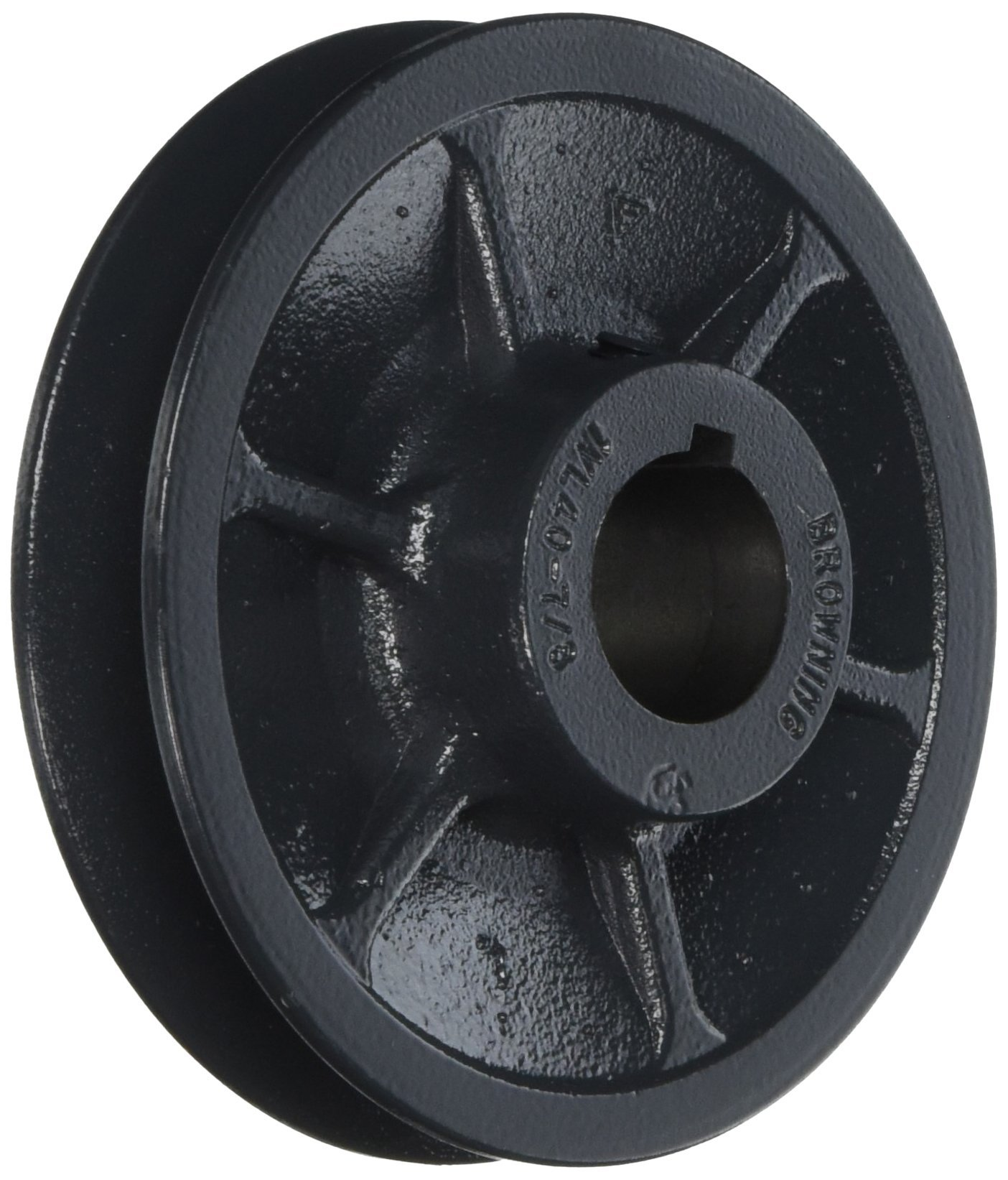 Browning 1VL40X7/8 Variable Pitch Sheave, 1 Groove, Finished Bore, Cast Iron Sheave, for 3L, 4L or A, 5L or B Section Belt