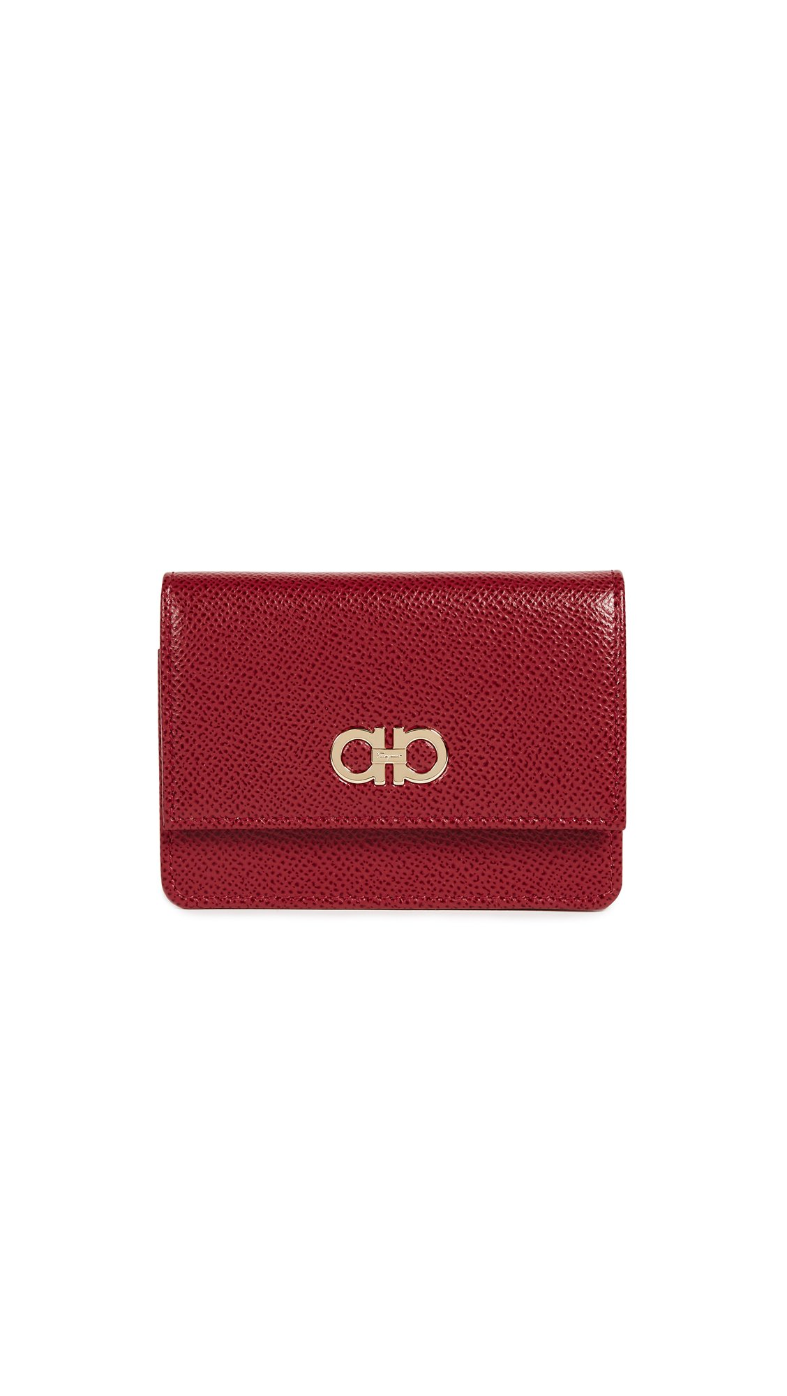 Salvatore Ferragamo Women's Gancini Card Case, Lipstick, One Size