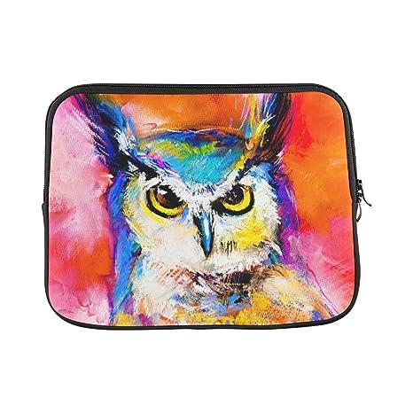 Amazon com: InterestPrint Modern Art Pastel Painting of an Owl