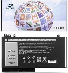 ANTIEE 47Wh NGGX5 Laptop Battery for Dell Latitude E5270 E5470 E5570 P48F001 Precision M3510 Series Notebook JY8D6 0JY8D6 954DF W9FNJ RDRH9 JY8DF 451-BBUM 451-BBUJ 3Cell 11.4V