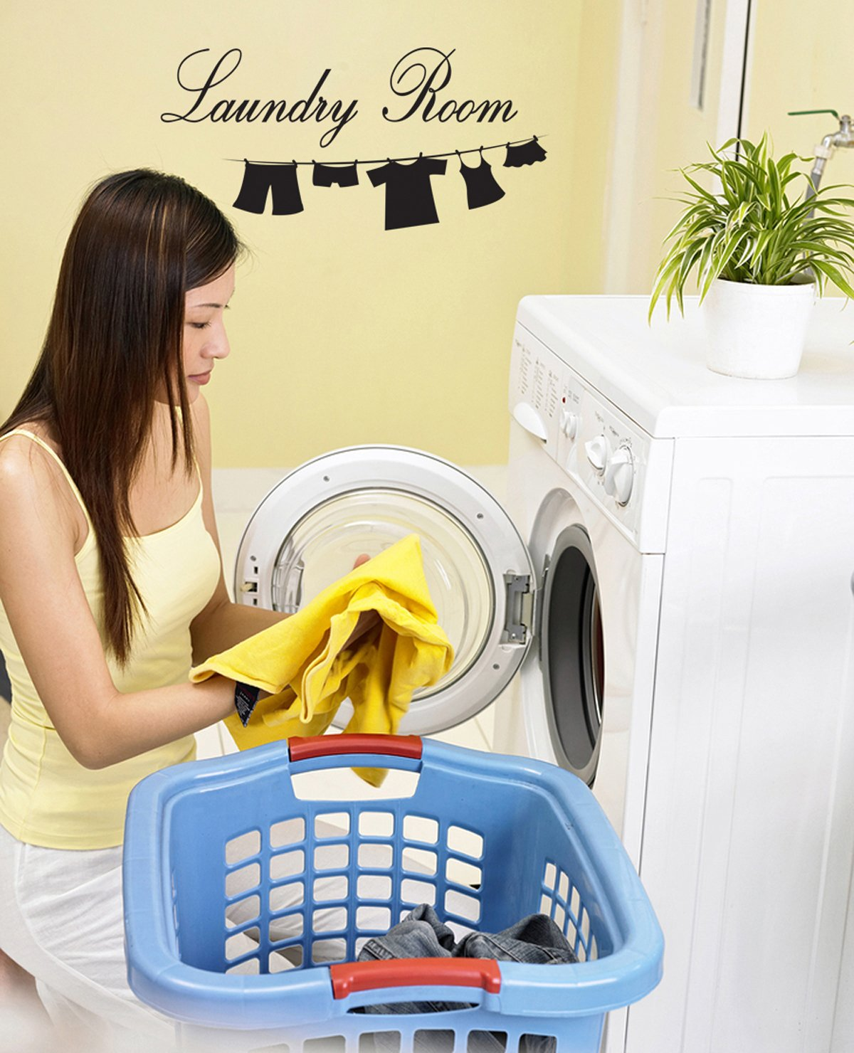 Amazon.com: Wall Decal Sticker Vinyl Art Lettering Laundry Room wall ...