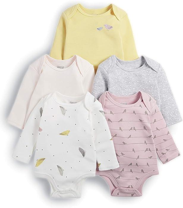 Mamas /& Papas Baby Girls Bodysuit Pack of 5