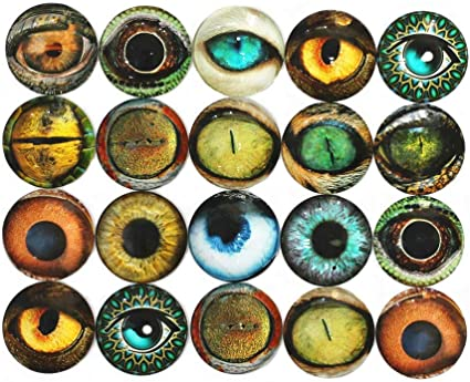 20pcs Mixed Flatback Glass Half Round//Dome Cabochon for Jewelry Making Findings
