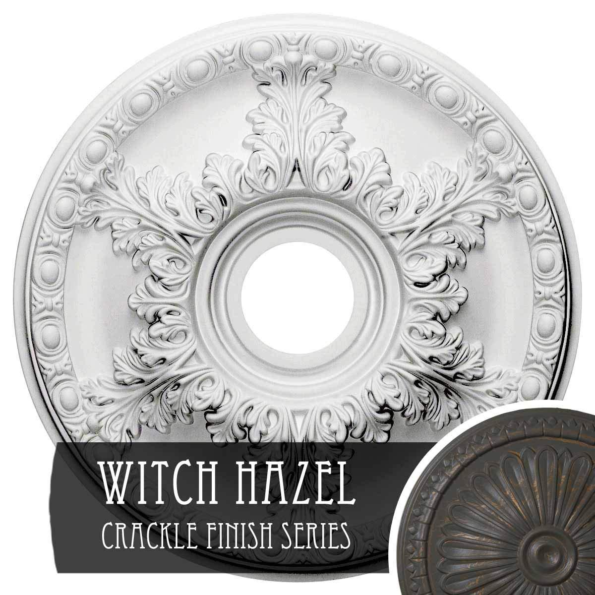 Ekena Millwork CM18GAWHC Granada Ceiling Medallion, Witch Hazel Crackle