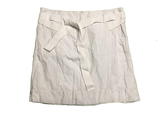 c6ae9b1cf Image Unavailable. Image not available for. Color: Ann Taylor LOFT Women's  Short Skirt Belted Size 0 White