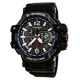 83d5d3b5996 Amazon.com  Casio G-Shock Gravity Master Hybrid GPS Black Blue GPW ...