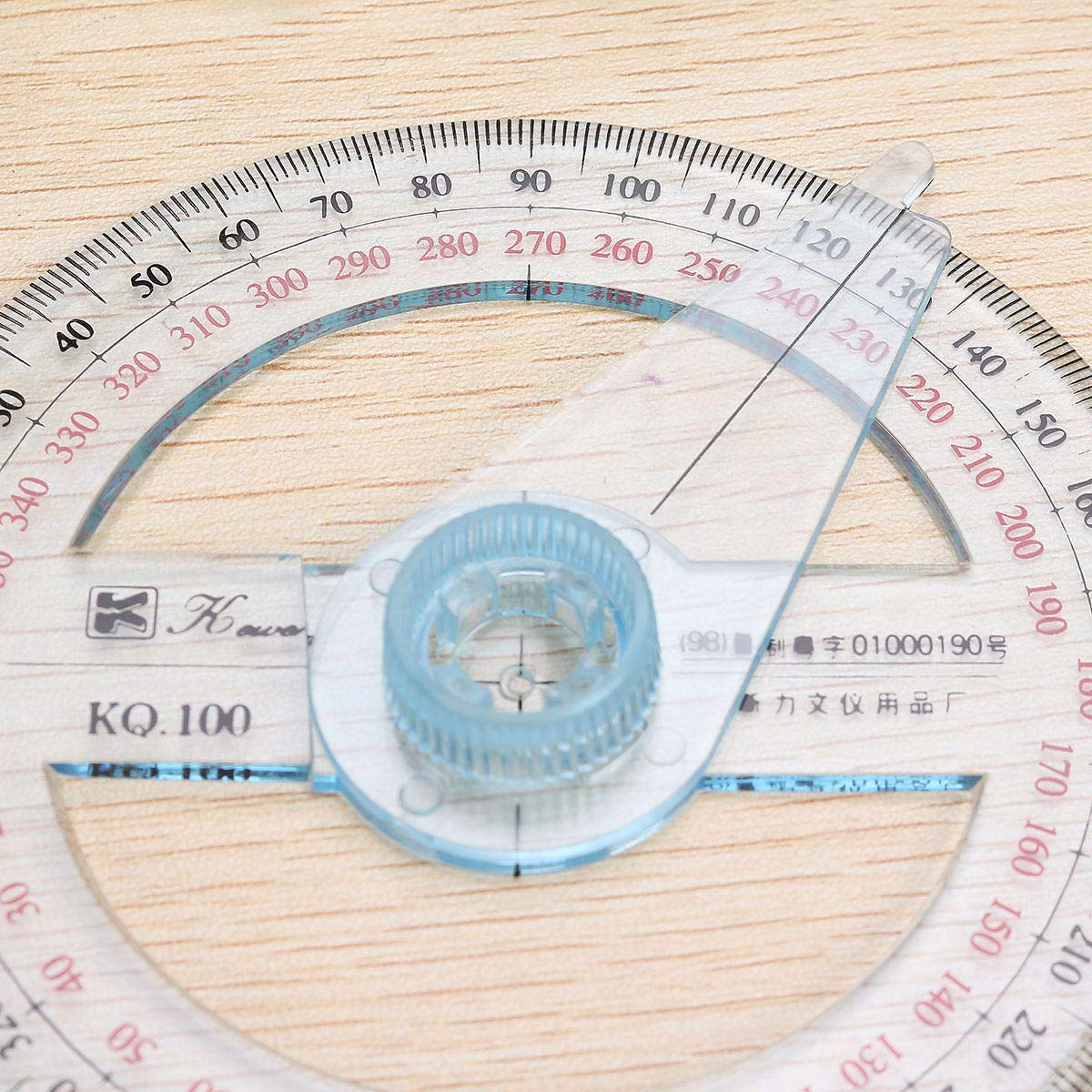 10cm Plastic 360 Degree Protractor Ruler Angle Finder Swing Arm School Office by Anddoa (Image #4)