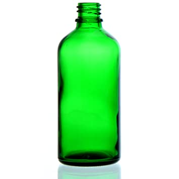 25 X verde vidrio botellas 100 ml sin cierre * * * verde botella de cristal