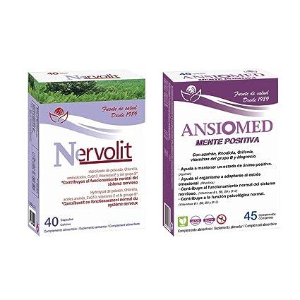 Bioserum - Pack Ansiomed Mente Positiva 45 Cápsulas + Nervolit 40 ...