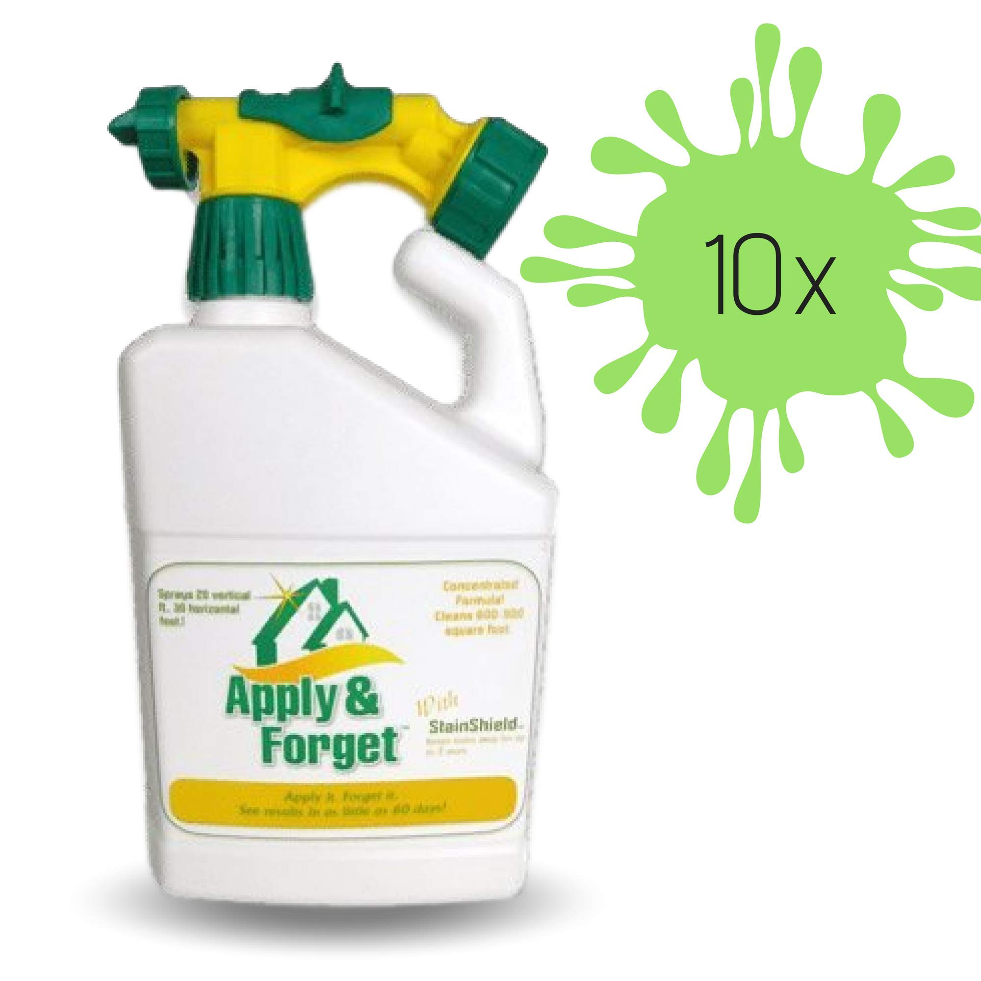 Apply & Forget Exterior Cleaner | House and Deck Cleaner - Outdoor Cleaner, Mold Remover, Mildew Remover, Stain Remover