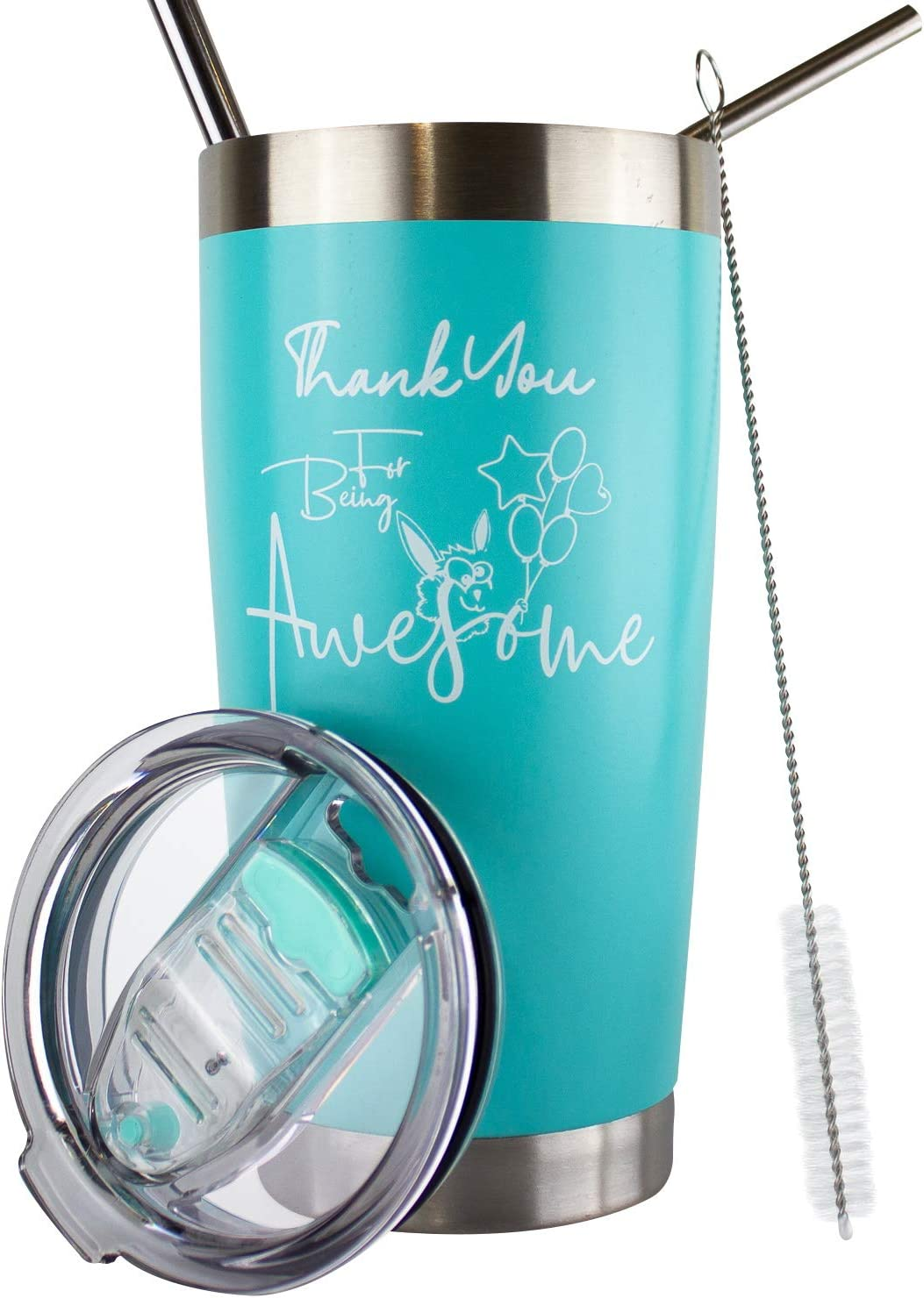 Thank You For Being Awesome Tumbler | Thank You Gifts For Coworkers | Best Gifts For Employees | Coworker Gifts For Women | Employee Appreciation Gifts | Teacher Appreciation Gifts Tumbler | 20 Oz