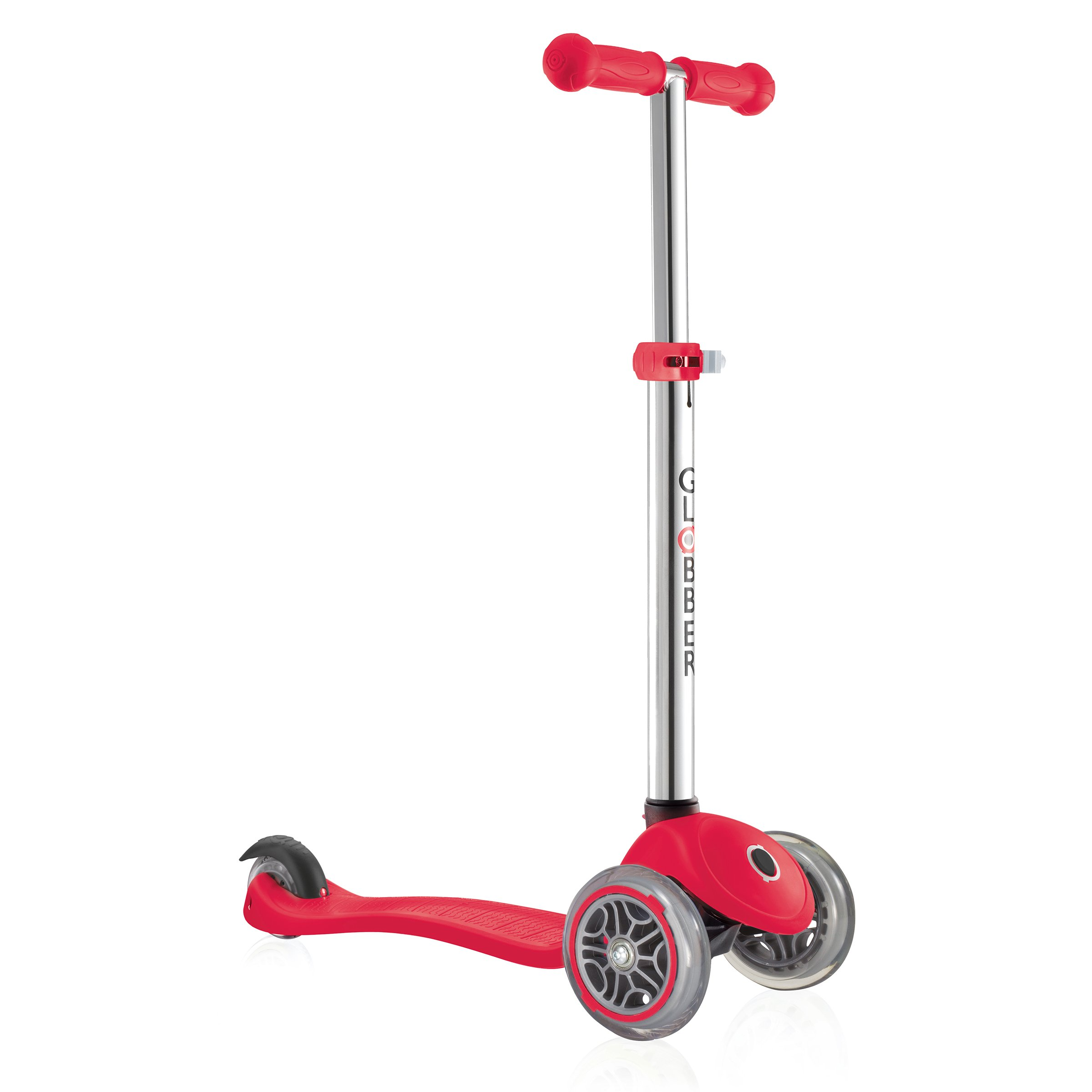Globber 3 Wheel Adjustable Height Scooter (Red)