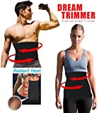 Waist Trimmer. Belly Fat Cellulite Burner With Silver Anti-Bacterial Coating, Body Shaper Exercise Belt, Sweat Sauna Abdominal Binder, Training Fitness Belt.