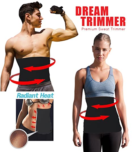 a9fe4071c68 Amazon.com  Waist Trimmer. Belly Fat Cellulite Burner With Silver ...