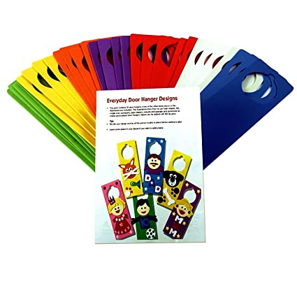 Creation Station Class Craft Foam Door Hangers With Ideas Leaflet, 6  Assorted Colours By Creation