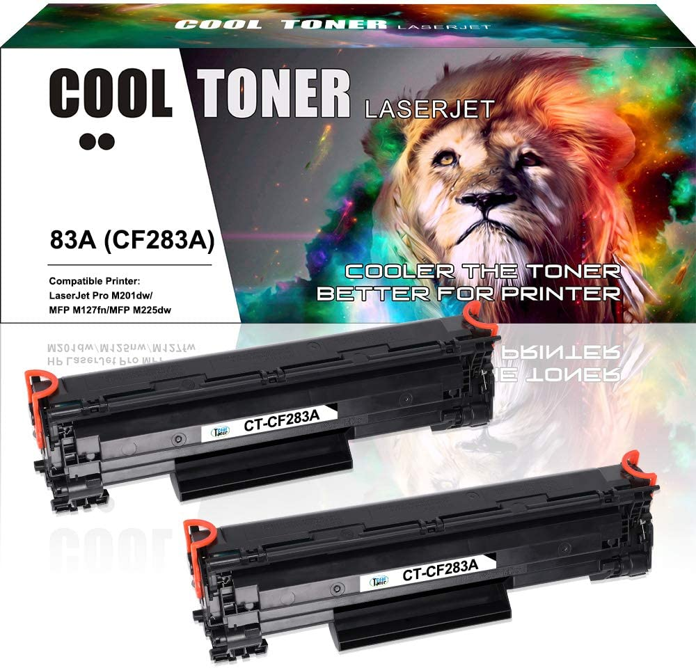 Cool Toner 2 Pack Compatible With Hp 83a Cf283a Toner For Hp Laserjet Pro Mfp M125nw M127fw Toner Hp Mfp M127fn M125a M225dn M127fs M128fw Hp M125a M127fs Hp M201dw M201n Black 1500