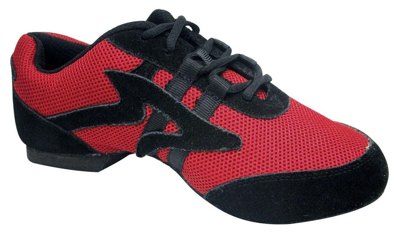 Sansha Salsette 1 Unisex Dance Sneakers B06ZZNK6YC 13 M US|Red