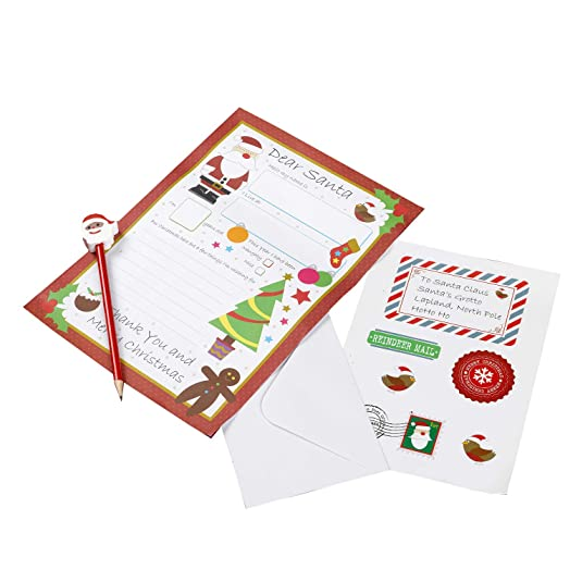 Neviti christmas craft letter to santa kit multi colour amazon neviti christmas craft letter to santa kit multi colour spiritdancerdesigns Image collections