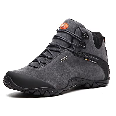 b6fb309a6d1ce SANANG Scarpe sportive Scarpe uomo da escursionismo stivali in pelle  scamosciata per invernali (48 EU