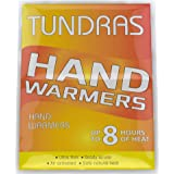 Tundras Hand Warmers 40 Count - Safe and Odorless Single Use Air Activated Heat Packs for Hands, Toes and Body - Up to 8 Hours of Heat - TSA Approved