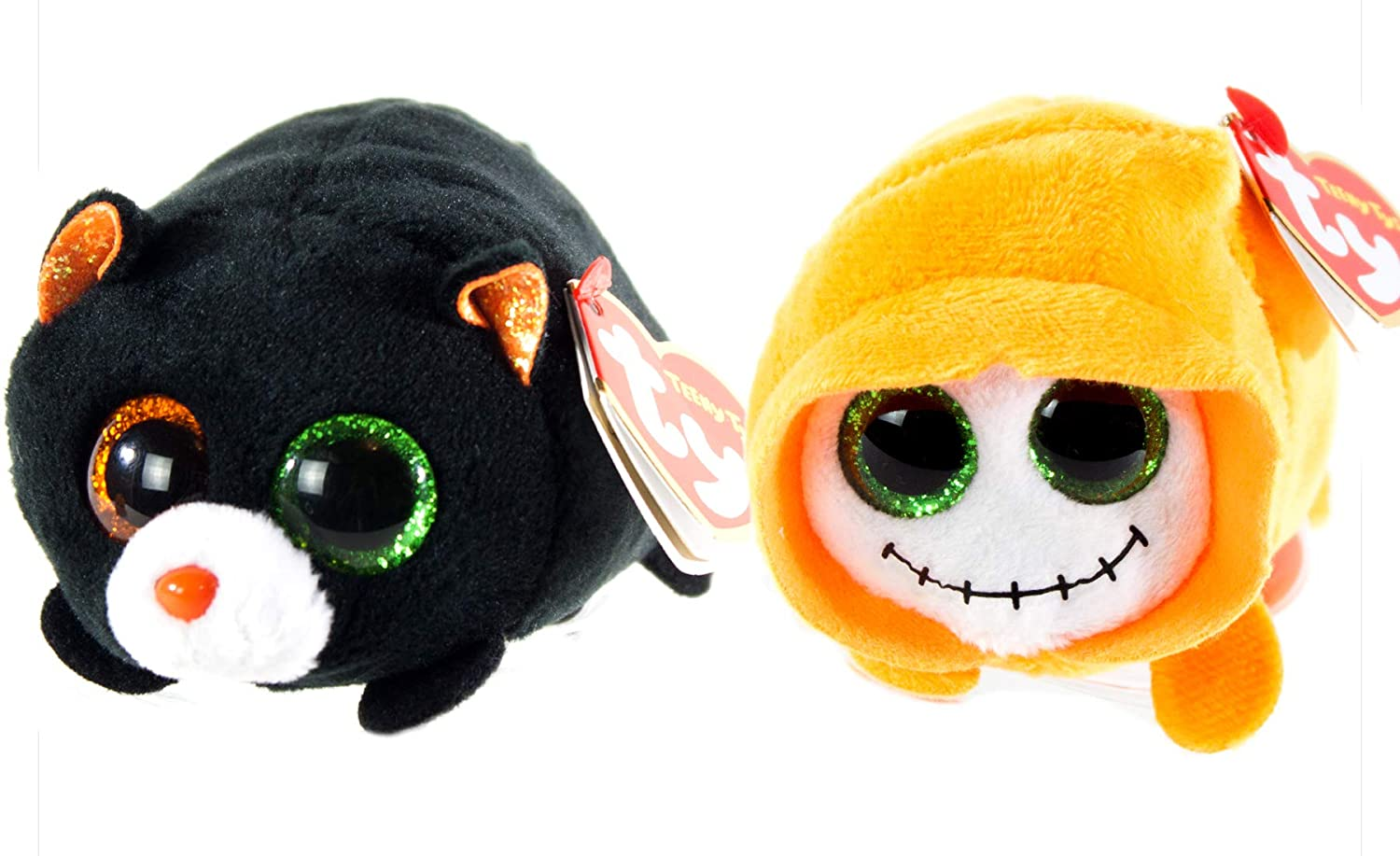 Amazon.com  BEANIE BOOS TY Halloween 2018 Bundle 2 Teeny Tys Trick Treat 4  inch Stackable Toys  Clothing 962e3df7c9d