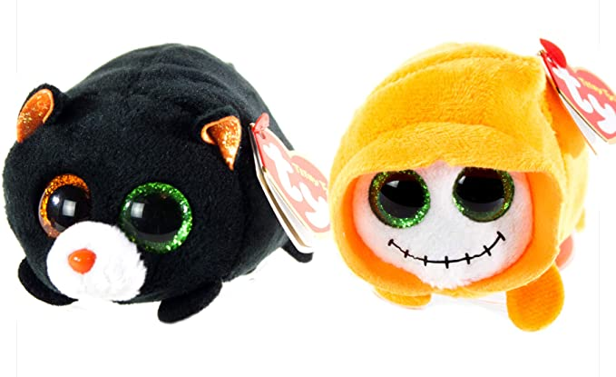 229d77e4d4d Amazon.com  BEANIE BOOS TY Halloween 2018 Bundle 2 Teeny Tys Trick Treat 4  inch Stackable Toys  Clothing