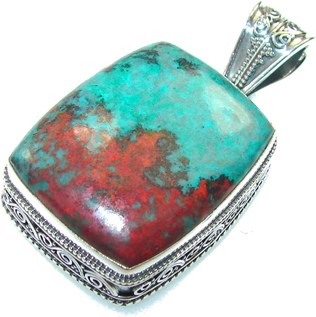 Red Sonora Jasper Women 925 Sterling Silver Pendant FREE GIFT BOX