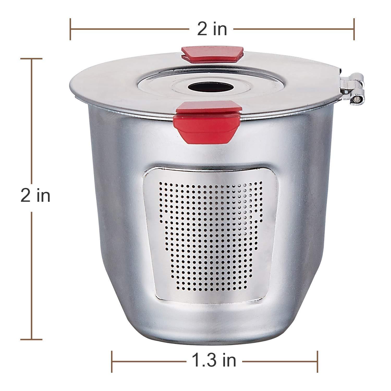 Reusable k Cups For Keurig 2.0 & 1.0 Coffee Machines Universal Stainless Steel Reusable Keurig Filter keurig Compatible K55 100% BPA-Free (4PC) by YEOSEN (Image #4)