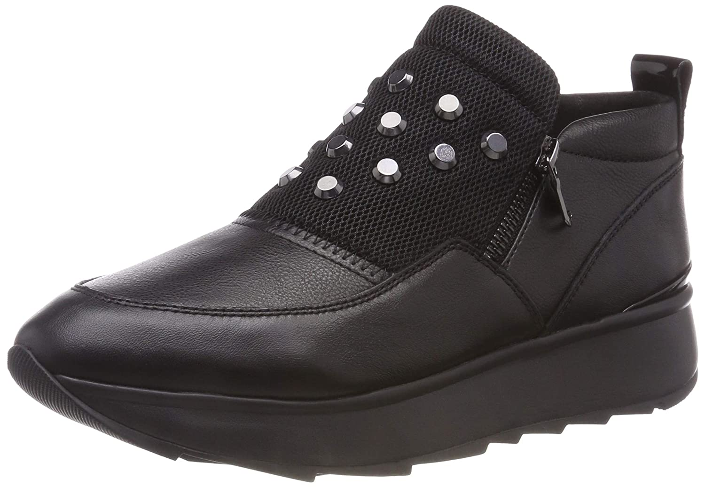 Geox d gendry c, scarpe da ginnastica basse donna, nero (black c9999), 35 eu