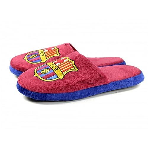 521bd2785e430 FC Barcelona Official - Pantuflas Zapatillas de Andar por casa de Dos  Colores (45.5