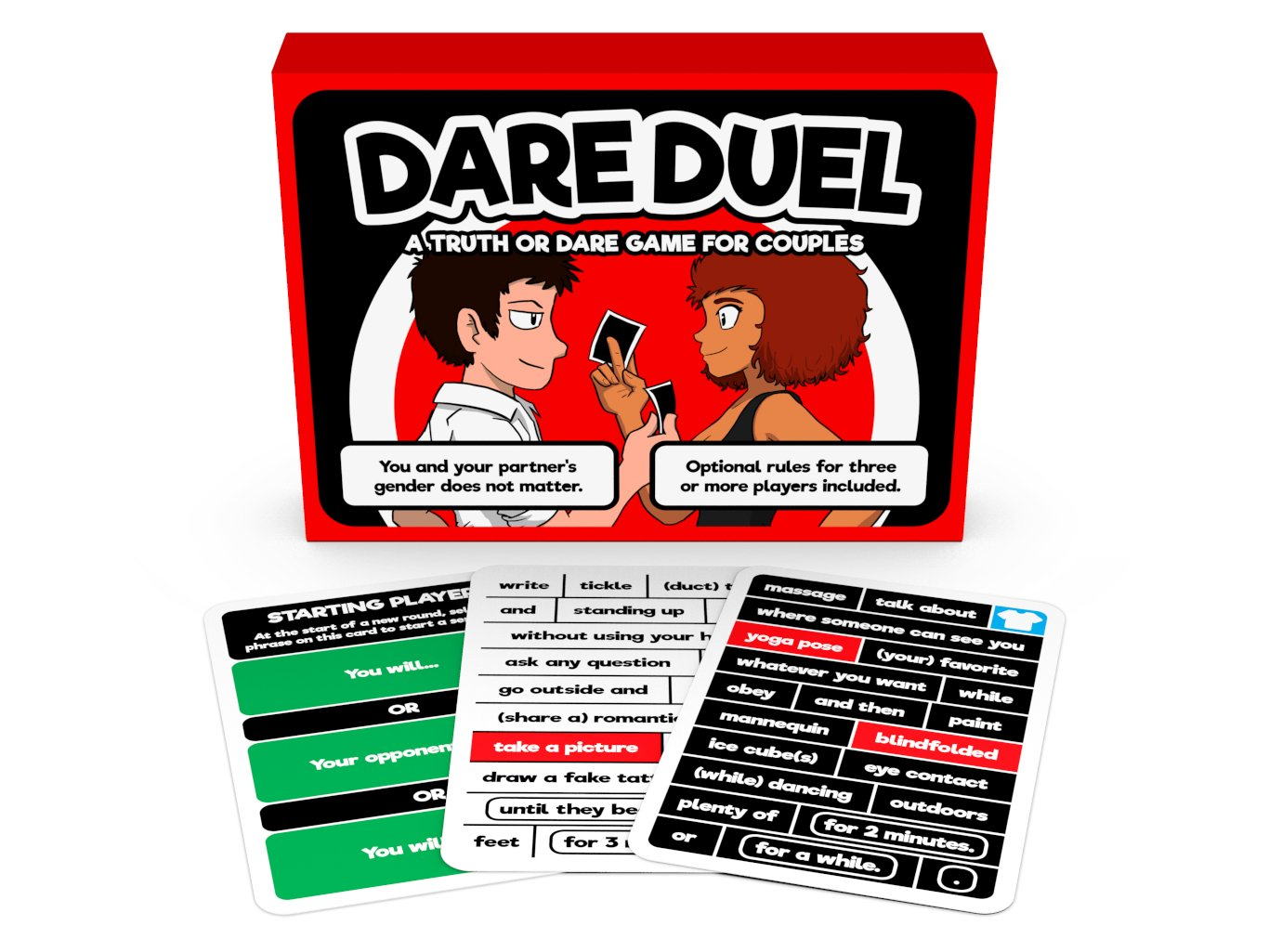 Amazon Com Dare Duel A Truth Or Dare Game For Couples Toys Games