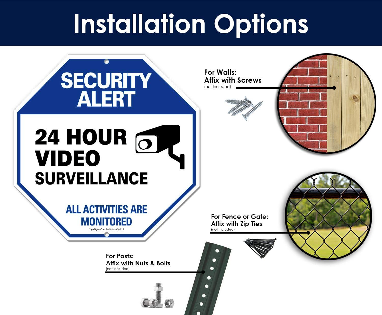 Amazon.com: Letrero de videovigilancia – Alerta de ...