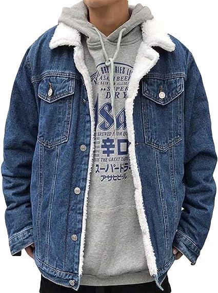 [BSCOOL]ジージャン メンズ デニムジャケット 裏起毛 厚手 Gジャン 裏ボア ショート アウター 保温 あったか ジャケット デニム 防寒 コート ファッション 秋 冬 裏ボアジャケット