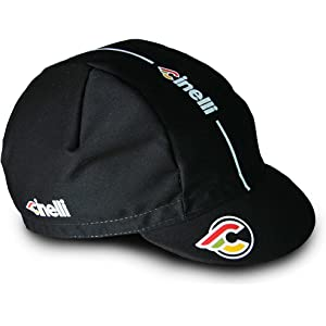 CINELLI (チネリ) Supercorsa CAP サイクル キャップ (ブラック(BLACK TIE)) [並行輸入品]