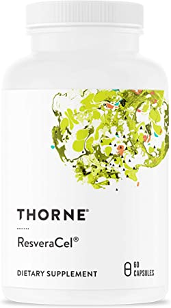 Thorne Research - ResveraCel - Nicotinamide Riboside (Niagen) with Resveratrol and Cofactors - Supports Healthy Aging - 60 Capsules