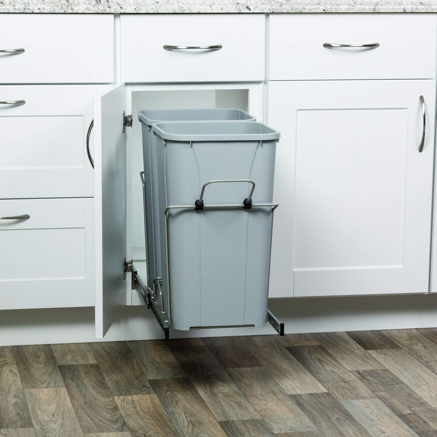 x 11 in in Cabinet Pull Out Soft-Close Trash Can x 22 in Knape /& Vogt 18.75 in