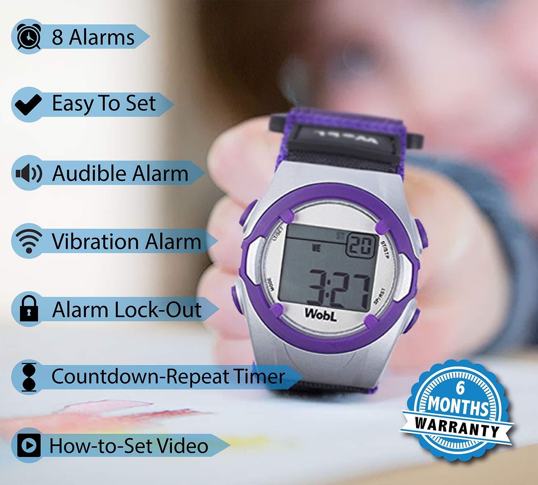 Amazon.com: WobL – Púrpura 8 recordatorio de alarma ...