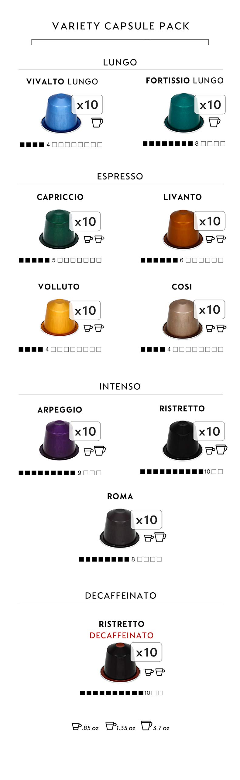 Nespresso OriginalLine Espresso Capsules Variety Pack, 100 Count by Nestle Nespresso (Image #2)