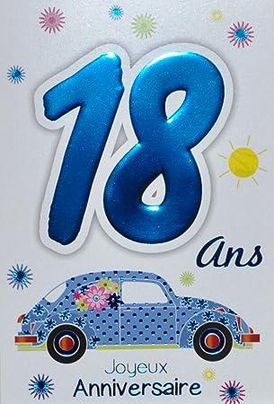 Age Mv 69 2018 Carte Joyeux Anniversaire 18 Ans Garcon Jeune Homme