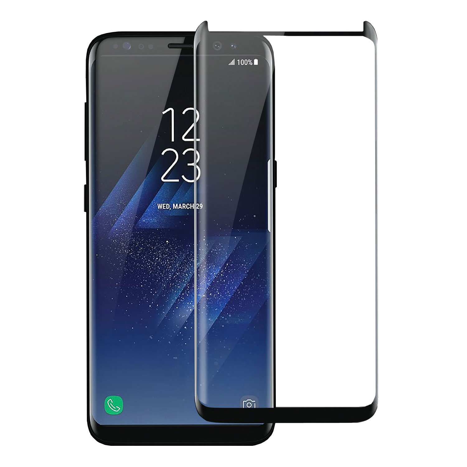 brand new b0315 9f2d8 Samsung S8 Plus Screen Protector - Case Friendly/Compatible - 9H Tempered  Glass - Olixar - Samsung Galaxy S8 Plus S8+ - Black