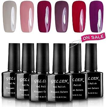 24f4280ea8 Amazon.com : Gellen Gel Nail Polish Kit, Charming 6 Colors Fashion Lady  Series, 8ml Nail Art Home Gel Manicure Set : Beauty